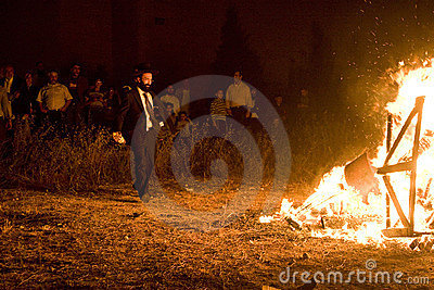 Religious celebrations of Lag ba-Omer, Israel Editorial Stock Photo