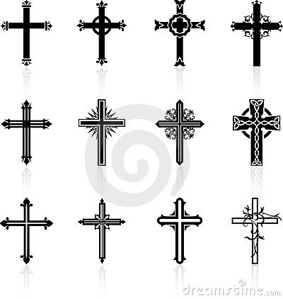 Free Religious Cross Design Collection Stock Images - 12098244