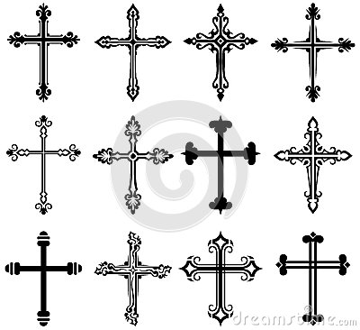 Free Religious Cross Design Collection Royalty Free Stock Image - 27139866