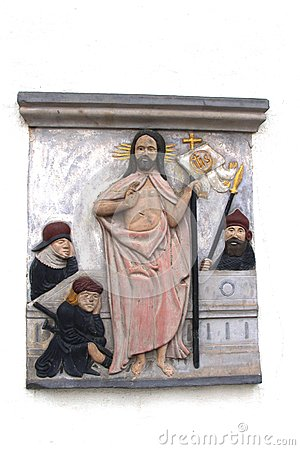 Jesus and disciples at Luther House, Eisenach, Germany
