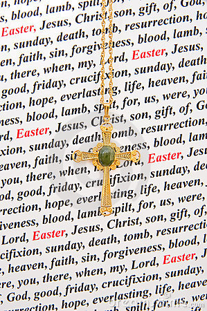 A religious Easter card.