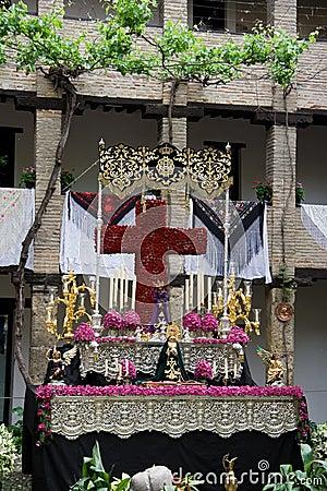 Religious festival  Granada Editorial Stock Image