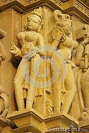 Religious Figures At Khajuraho