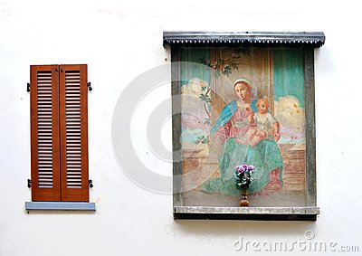 Religious fresco wall decoration