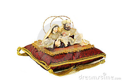 Religious icons on cushion