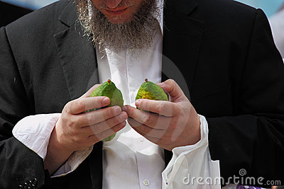 Religious Jew chooses on the pre bazaar Editorial Photo