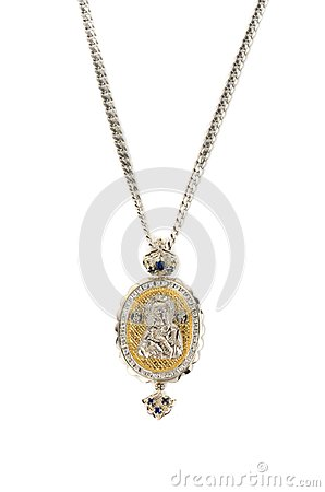 Religious jewellery icon pendant