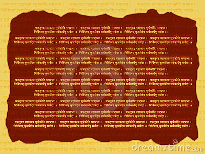 Religious mantra background