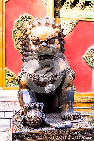 Religious metal lion