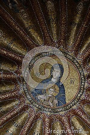 Chora religious mosaic