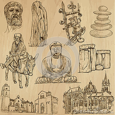 Free Religious No.4 - Vector Pack, Hand Drawings Royalty Free Stock Photo - 41489465