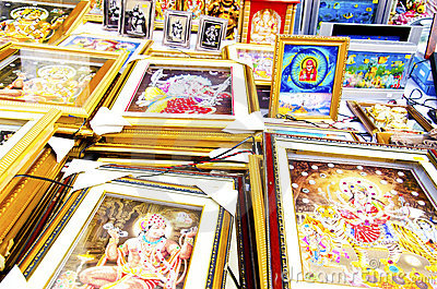 Religious photo frames Editorial Image