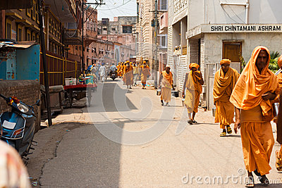 Religious Pilgrimage Haridwar Walking Street Editorial Stock Image