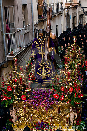 Religious processions in Holy Week. Spain Editorial Photography