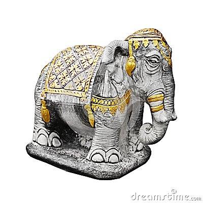 Religious sculpture the elephant - Thailand
