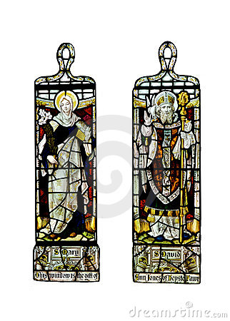 Religious stained glass windows,