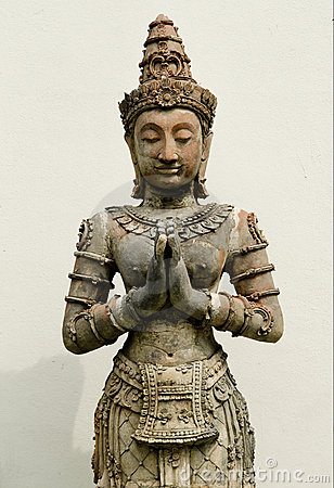 Religious statue in asian temple