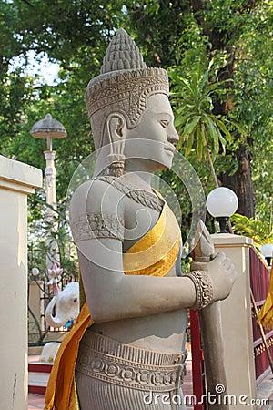 Religious statue in buddhist city pillar