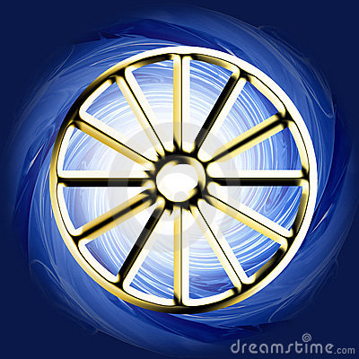 Religious symbol - buddhist karman wheel