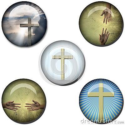 Religious Symbol Web Buttons