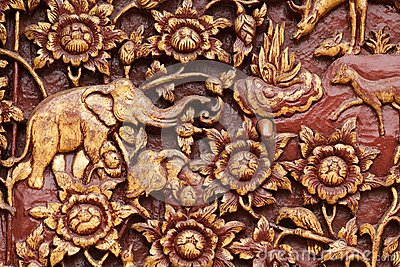 Religious wooden carving