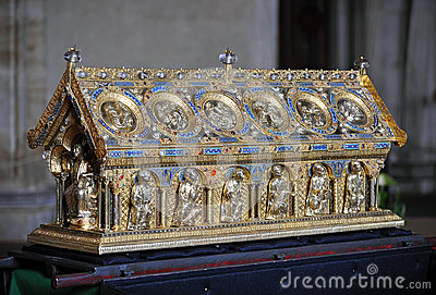 Reliquary of St. Maurus Editorial Stock Photo