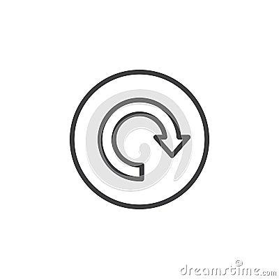 Free Reload, Arrow Around Circular Line Icon. Round Simple Sign Stock Photos - 95310723