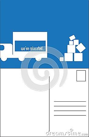 Relocating postcard