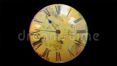 Reloj con guerra La guerra del Tercer mundo El peligro de la guerra almacen de metraje de vídeo