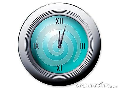 Reloj con los números romanos