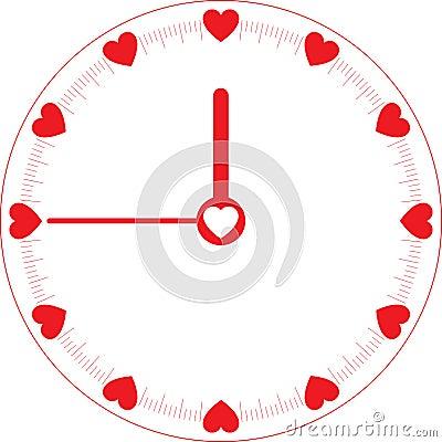 Reloj de tiempo del amor