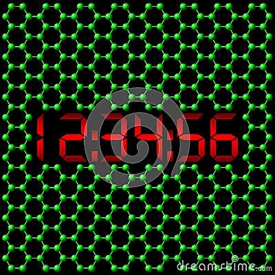 Reloj digital atómico