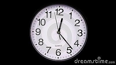 reloj en un 00:00 negro TimeLapse