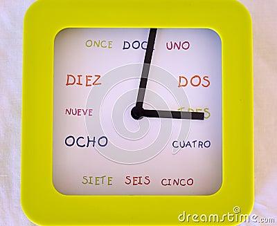 Reloj español