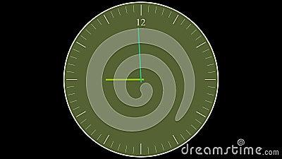 Reloj que corre al revés la animación de time lapse almacen de video