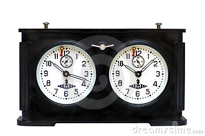 Reloj viejo del ajedrez