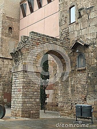 Remain of a roman aqueduct