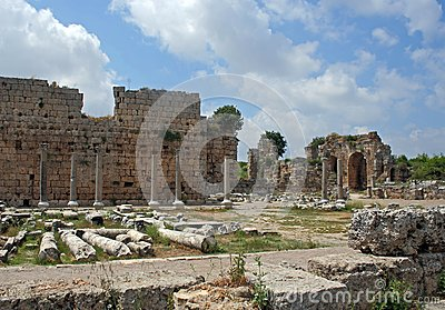 Remains of ancient Roman city