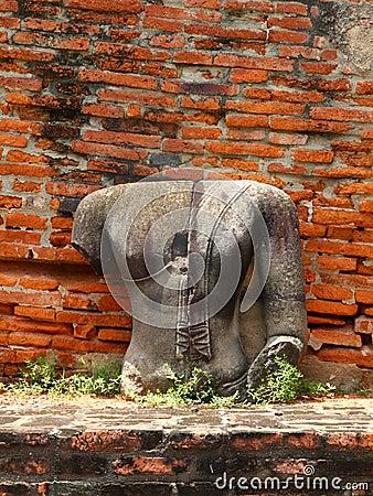 Remains  of  Buddha statue