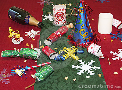 Remains of the holiday party