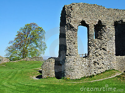 Remains of Kendal castle