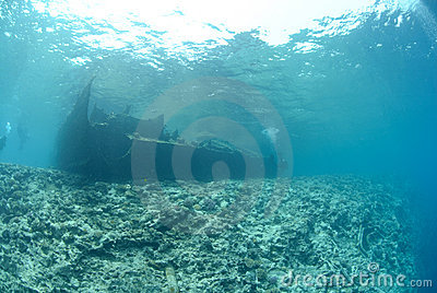 The Remains of the Lara shipwreck