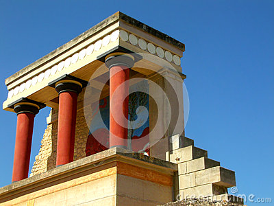 The remains of the Minoan civilization in Knossos, Crete