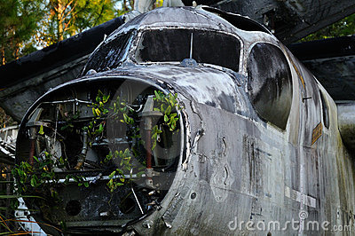 Remains of an old Airplane