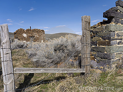 Remains of an old homestead in Unionville, Nevada