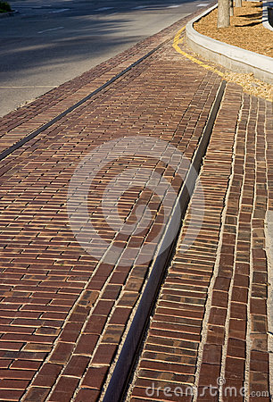 Remains of old streetcar track
