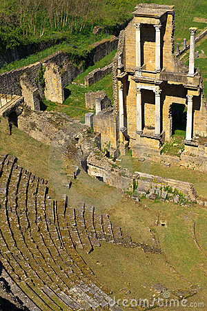 Remains of Roman Amphitheatre in Volterra