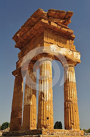 Remains of the temple of agrigento