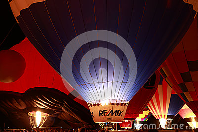 Remax Balloon at the Glow Editorial Stock Image
