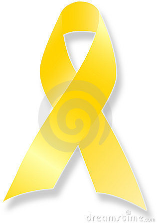 Free Remember Our Troups Yellow Ribbon Royalty Free Stock Images - 800589